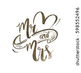 mr and mrs wedding backdrop...   Shutterstock .eps vector #598552496