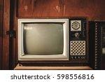 old vintage tv | Shutterstock . vector #598556816