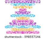 abstract vector pattern ... | Shutterstock .eps vector #598557146