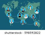 global communication between... | Shutterstock . vector #598592822