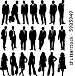 collection of business people... | Shutterstock .eps vector #5985949