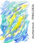 Watercolor Abstract Spots In...