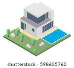 modern isometric house...   Shutterstock .eps vector #598625762