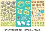 set of landscape elements.... | Shutterstock .eps vector #598627526