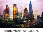 city of london at night.... | Shutterstock . vector #598630376