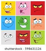 Square Cartoon Emoticons...