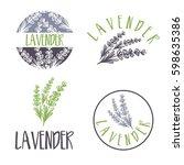 set of template logo design of...   Shutterstock .eps vector #598635386