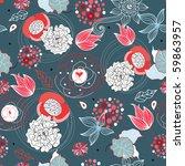 flower texture red white | Shutterstock .eps vector #59863957