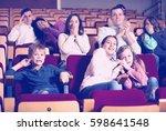 adults and children enjoying... | Shutterstock . vector #598641548