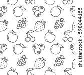 fruits seamless pattern vector... | Shutterstock .eps vector #598644155