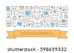 vector line web concept for... | Shutterstock .eps vector #598659332