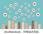 social media competition.... | Shutterstock .eps vector #598665506