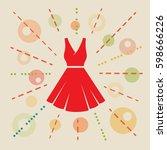 dress. concept vector...   Shutterstock .eps vector #598666226