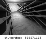 concrete architecture... | Shutterstock . vector #598671116