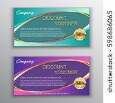 discount voucher template with...   Shutterstock .eps vector #598686065
