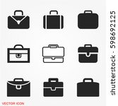 suitcase icons set | Shutterstock .eps vector #598692125