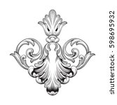 ornament in baroque style | Shutterstock .eps vector #598695932