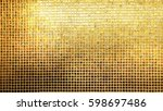 golden tiles pattern square... | Shutterstock . vector #598697486