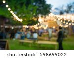 abstract blur people in night... | Shutterstock . vector #598699022