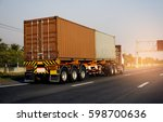 container truck on road | Shutterstock . vector #598700636