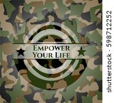 empower your life camouflage... | Shutterstock .eps vector #598712252
