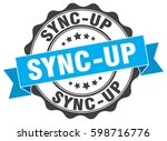 sync up. stamp. sticker. seal.... | Shutterstock .eps vector #598716776