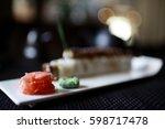 seafood restaurant   Shutterstock . vector #598717478
