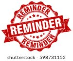 reminder. stamp. sticker. seal. ... | Shutterstock .eps vector #598731152
