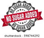 no sugar added. stamp. sticker. ...   Shutterstock .eps vector #598744292