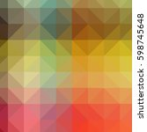 abstract low poly triangular... | Shutterstock . vector #598745648