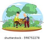 people play chess. vector... | Shutterstock .eps vector #598752278