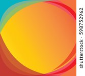 amazing full color background... | Shutterstock .eps vector #598752962