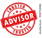 trusted advisor business rubber ... | Shutterstock .eps vector #598753088