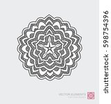 floral abstract ornament of... | Shutterstock .eps vector #598754396