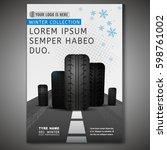 vector tyre poster image.... | Shutterstock .eps vector #598761002