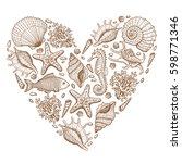 Sea Heart. Original Hand Drawn...