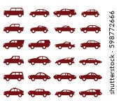 car icons set | Shutterstock .eps vector #598772666