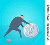 businessman with money.... | Shutterstock .eps vector #598778006
