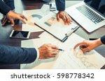 businessmen meeting  business... | Shutterstock . vector #598778342