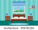 interior living room design... | Shutterstock .eps vector #598781282