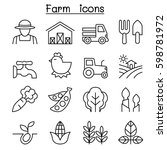 farming   agriculture icon set... | Shutterstock .eps vector #598781972