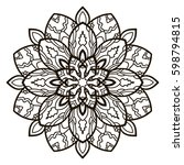 mandala. ethnic decorative... | Shutterstock .eps vector #598794815