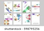 memphis geometric background...   Shutterstock .eps vector #598795256