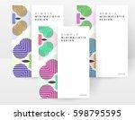 memphis geometric background... | Shutterstock .eps vector #598795595