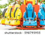 colorful roller coaster seats...