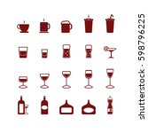 drink icons set. vector. | Shutterstock .eps vector #598796225