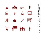 higher education icons | Shutterstock .eps vector #598796426
