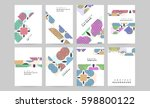 memphis geometric background... | Shutterstock .eps vector #598800122
