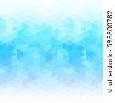 blue grid mosaic background ... | Shutterstock .eps vector #598800782