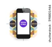 mobile phone icon with trendy...   Shutterstock .eps vector #598801466
